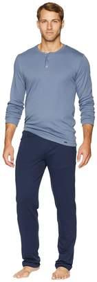 Hanro Narius Long Sleeve Henley Pajama Set Men's Pajama Sets