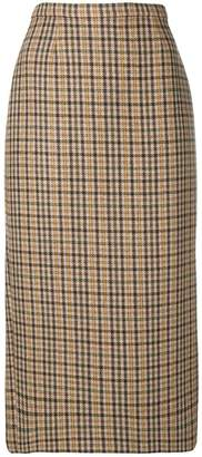Rochas checked pencil skirt