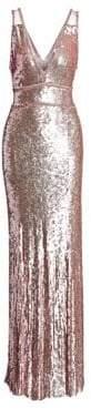 Jenny Packham V-Neck Sleeveless Beaded Gown