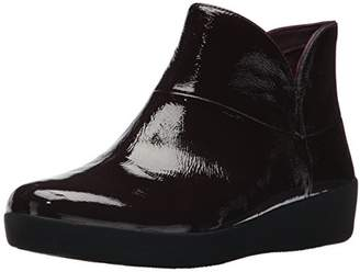 FitFlop Women's Supermod II Crinkle-Patent Leather Ankle Boot