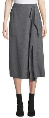 Equipment Climmie Dotted Midi Skirt with Flounce