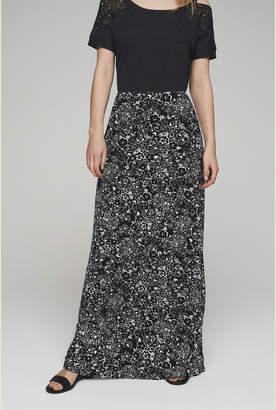 ea9ba0ce343 Long Tall Sally Jersey Printed A-line Maxi Skirt