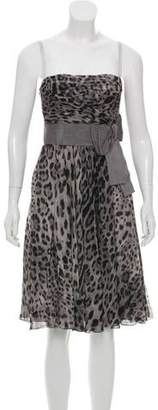 Dolce & Gabbana Animal Print Silk Dress w/ Tags