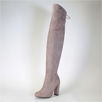 Bamboo Womens Over the Knee Boots $70 thestylecure.com