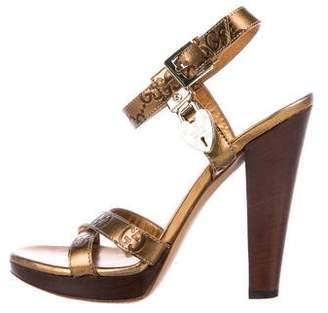 Gucci Guccissima Platform Sandals