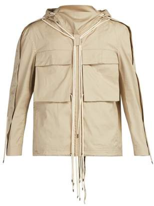 Craig Green Drawstring Hooded Cotton Shirt - Mens - Beige