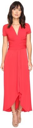 MICHAEL Michael Kors - Short Sleeve Maxi Wrap Dress Women's Dress $125 thestylecure.com