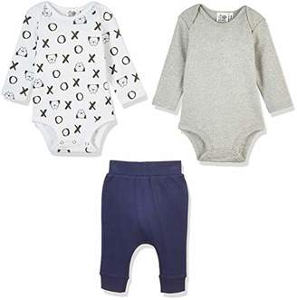 Silly Apples (032) Baby Unisex Pure Cotton 3-Piece Bodysuit Onesies and Pant Outfit Set ()