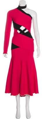 Proenza Schouler One-Sleeve Evening Dress