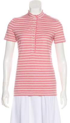 Tory Burch Striped Short Sleeve Top