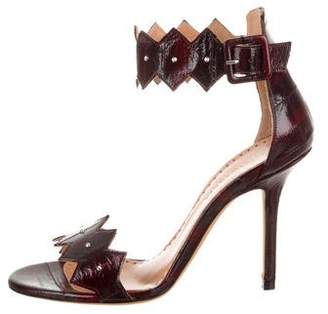 Alexa Wagner Caroline Eel Skin Studded Sandals w/ Tags