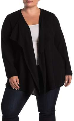 Magaschoni M BY Waterfall Open Front Cashmere Cardigan (Plus Size)
