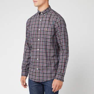 Men's Oxford Check Long Sleeve Shirt