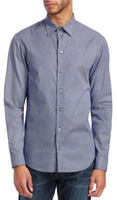 Emporio Armani Mini-Diamond Cotton Shirt