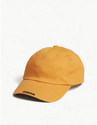 HERON PRESTON Logo-embroidered canvas strapback cap