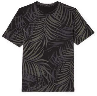 Theory Saygo Slim-fit Printed Pima Cotton-jersey T-shirt - Black