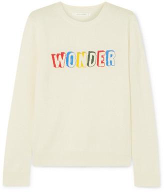 Chinti and Parker Wonder Intarsia Cashmere Sweater - Cream