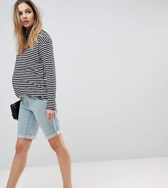 Bandia Maternity Over The Bump Boyfriend Shorts With Removable Bump Band