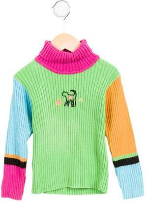 Catimini Girls' Embroidered Colorblock Sweater