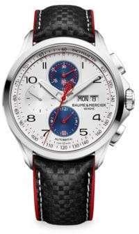 Baume & Mercier Clifton Club Shelby Cobra 10342 Stainless Steel& Leather Strap Watch