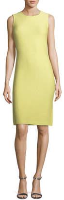 St. John Hannah Side-Slit Knit Sheath Dress