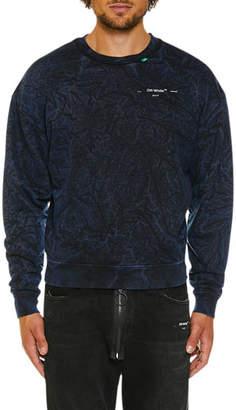 Off-White Men's Faded Volume Crewneck Sweatshirt