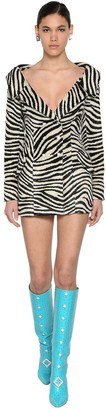 Giuseppe Di Morabito ZEBRA PRINT JACKET DRESS