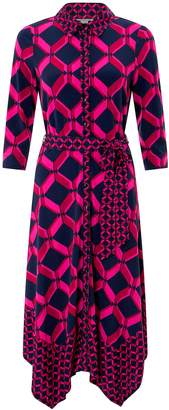 Next Womens Monsoon Pink Gabby Geo Print Shirt Dress