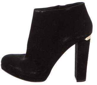 Michael Kors Suede Round-Toe Ankle Boots