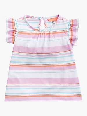 48c072d2686825 Joules Little Joule Girls' Jersey Stripe Print Top, Multi