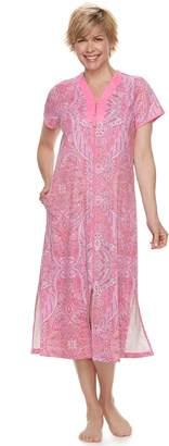 Miss Elaine Women's Essentials Long Paisley Robe