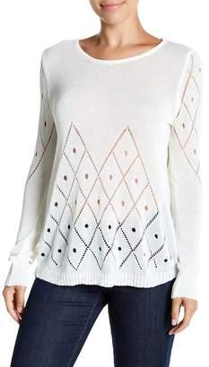 John Fashion Patterned Crochet Top