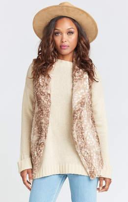 Show Me Your Mumu Fausta Fur Vest ~ Faux-ie Fawn Fur