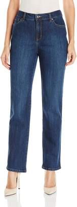 Gloria Vanderbilt Women's Amanda-Classic Straight Leg Jean in Long Length
