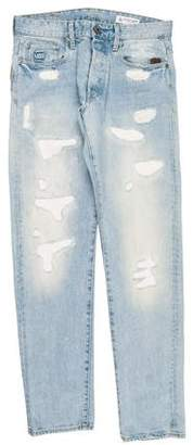 G Star Distressed Logo Jeans
