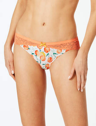 66aeb842b M S CollectionMarks and Spencer Fruit Lace Brazilian Knickers