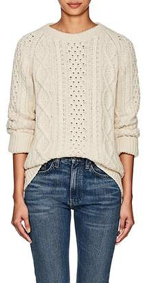 Barneys New York Women's Cable-Knit Cashmere Sweater - Ivorybone