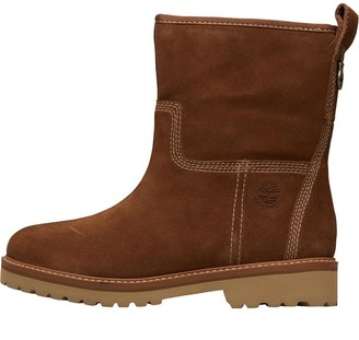 Timberland Womens Chamonix Valley Waterproof Lined Suede Winter Boots Dark Rubber