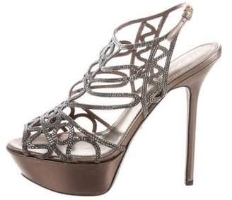 Sergio Rossi Strass Platform Sandals w/ Tags