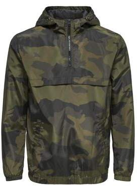 ONLY & SONS Storm Camouflage Half-Zip Jacket