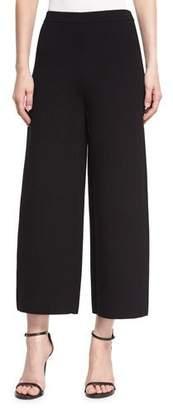 Prabal Gurung Knit Cropped Straight-Leg Pants, Black
