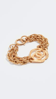 Chanel What Goes Around Comes Around CC In Medallion Bracelet