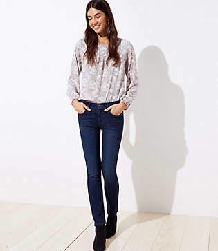 LOFT Modern Straight Leg Jeans in Dark Indigo Wash