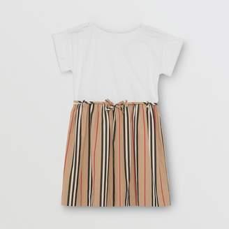 Burberry Childrens Icon Stripe Cotton Dress