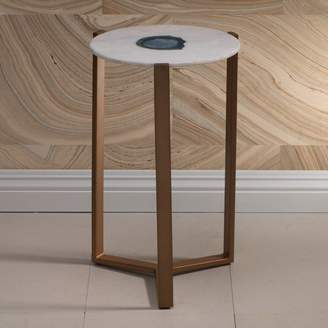 Zodax Caspian 20-inch Tall Marble End Table