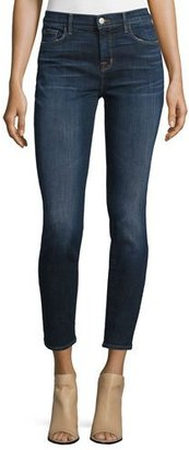 J Brand 811 Mid-Rise Skinny Cropped Jeans $218 thestylecure.com