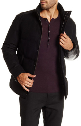 John Varvatos Collection Zip & Snap Quilted Down Jacket $1,398 thestylecure.com