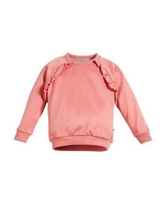 Molo Michaela Ruffle-Trim Sweatshirt, Size 3-12