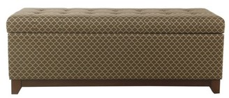 HomePop Large Storage Bench with Wood Apron, Multiple Colors
