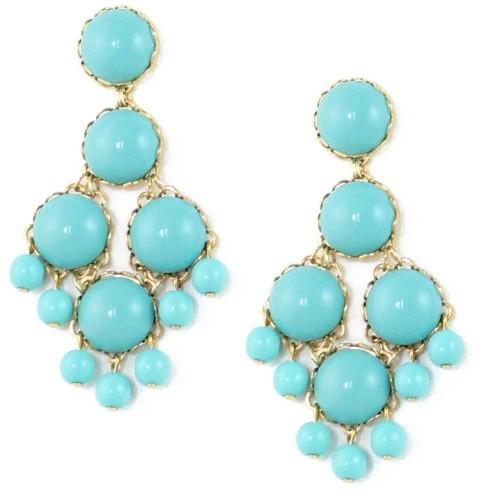 Loren Hope Dabney Large Chandelier Earrings, Turquoise